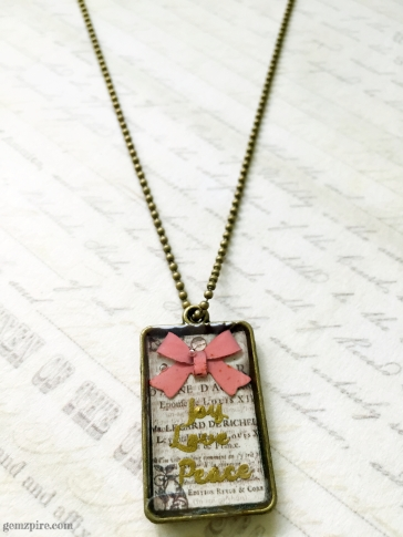 Joy Love Peace Necklace @ $16.90