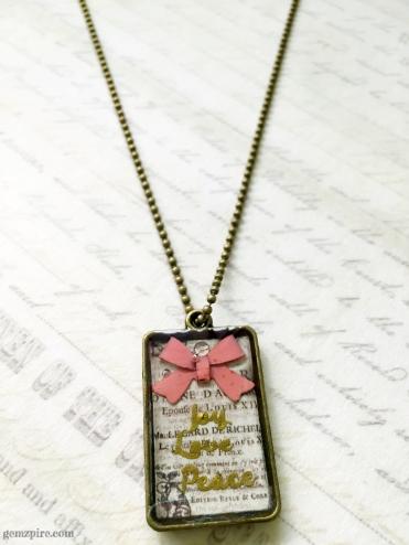 Joy Love Peace Necklace @ $16.90