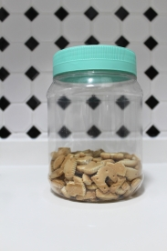 After - Big container with beach glass lid (with biscuits)