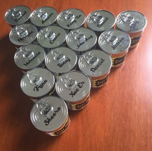 Customised metal cans