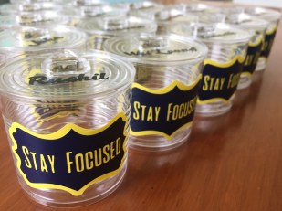 Customised plastic tins for students (a)