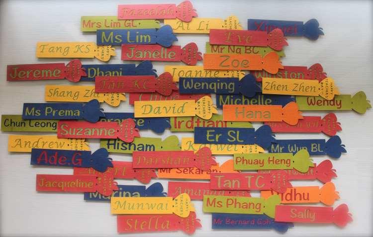 Customised Teachers' Day Bookmarks (b)