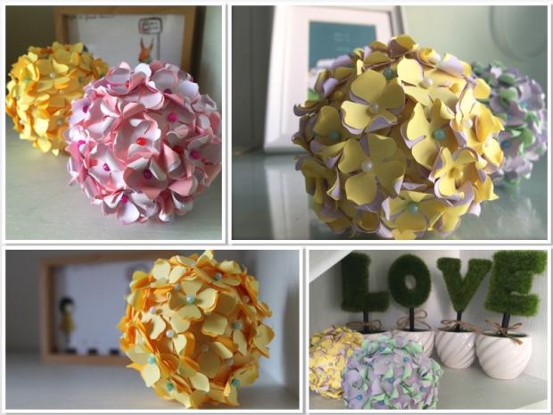 DIY Pastel Paper Flower balls