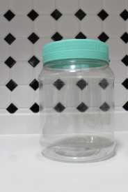 After - Big container with beach glass lid (empty)