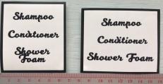 Bathroom Labels @ $3.90 each