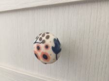 Decoupage drawer knobs with fabric