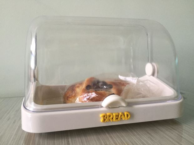 Polymer Clay Bread Label on Bread Container