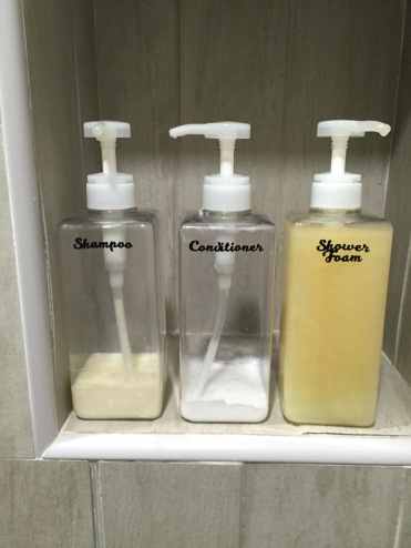 Shampoo Conditioner and Shower