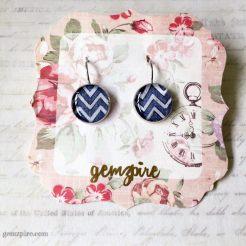 Blue Mountain Dangling Earrings @ $12.90 (SOLD)