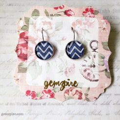 Blue Mountain Dangling Earrings @ $12.90 (SOLD)