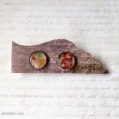 Japanese Inspired Floral Clip on Earrings @ $12.90