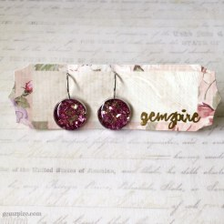 Dazzling Pink Dangling Earrings @ $12.90 (SOLD)