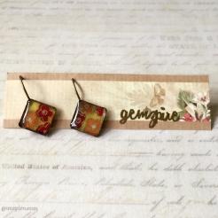 Floral Diamond Dangling Earrings @ $11.90 (SOLD)