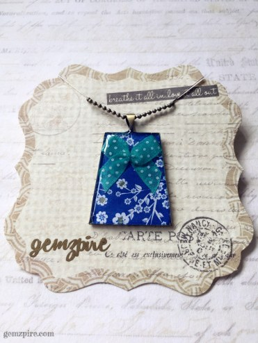 Floral & Ribbon Necklace @ $18.90
