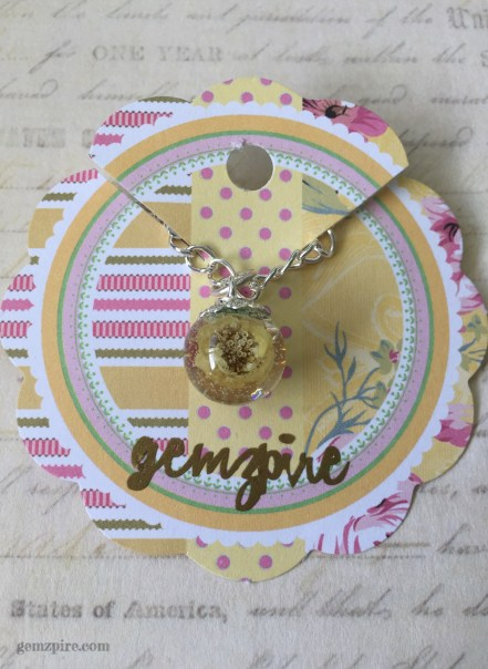 Flower Ball Necklace @ $15.90 (SOLD)