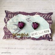 Purple Glitter Tulip Earrings @ $12.90