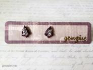 Silver Glitter Tree Earrings @ $12.90
