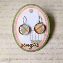 Patterned Dangling Earrings @ $12.90 (SOLD)