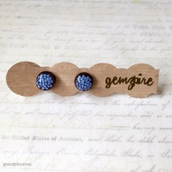 Round Blue Beady Earrings @ $11.90