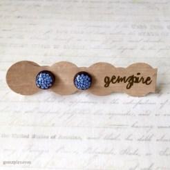 Round Blue Beady Earrings @ $11.90