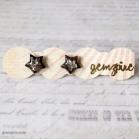 Silver Glitter Star Earrings @ $12.90